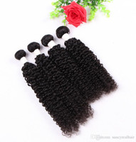 Elibess Brand--Curly Virgin Hair Weaves 3 Bundles Lot Natural Black Kinky Curly Hair Weaves Brazilian Jerry Curly
