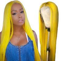 사용자 정의 레이스 프런트가 인간의 머리 가발 13x4 사전 뽑아 레이스 프런트 가발 아기 머리 레미 노란색 브라질 스트레이트 레이스 가발