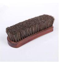 Профессиональная натуральная щетина конский волос Чистка обуви польский Полировка Кисть деревянные Кисти