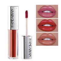 Dropshipping Mais Novo Handaiyan Doze Cores Velvet Matte Creme Hidratante Lip gloss de cor Brilhante em estoque com presente