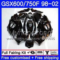 Corps de Suzuki GSXF 750 600 GSXF750 GLOSS NOIR NOUVEAU 1998 1999 1999 2000 2001 2002 292HM.55 GSX 600F 750F Katana GSXF600 98 99 00 01 02 Catériel