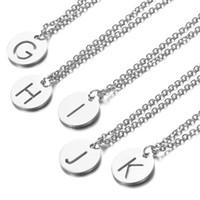 Gümüş baş harfleri Kolye Paslanmaz Çelik Kadınlar kolye Takı A-Z 26 Mektupları Hollow-Out İlk gerdanlık kolye hediyeler Bireysel Paketi
