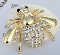 Alta Quailty Fashion Strass Animal Brooch Jewelry Lovely Lega Bee Spille Pins Accessori per le donne 636