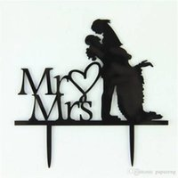 Free shipping Wholesales Acrylic Cake Topper Couple Pretty S...