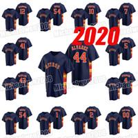 2020 41 Brad Pavone 43 lancia McCullers 44 Yordan Alvarez 54 Roberto Osuna 4 George Springer 2 Alex Bregman 21 Zack Greinke Navy Jersey