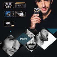 3 cuchillas giratorias recargable afeitadora eléctrica portátil Función 4W maquinilla de afeitar eléctrica de iluminación LED de eliminación de pelo de afeitar