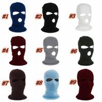 Yeni Moda Örgü Kayak Şapka Spor Windproof Yüz Shield Beanie Cap Kar Kış Bisiklet 16 Renkler ZZA1123 Maske Isınma Maske