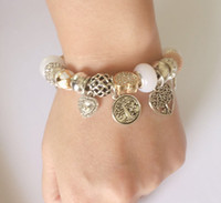 Charme 925 Bracelets d'argent pour femmes Pendentif arbre Pendentif Snake Chaîne de serpents Bangle d'amour Perles d'amour cadeau Diy mariage bijoux accessoires