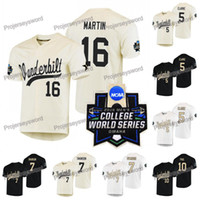 Vanderbilt Commodores Jersey 7 Dansby Swanson 5 Philip Clarke 10 Ethan Paul 16 Austin Martin 2019 NCAA College WS W S Custom Baseball Jersey