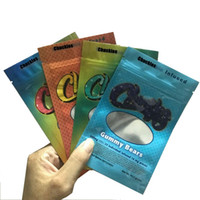 400mg Chuckles Essbare Verpackungen Mylar Taschen 4 Typen Gummies Paket GEMMY WORMS Bären Pfirsichringe Mini Rainbow Gürtel Riesche Beweise Wiederverschluss Reißverschlussbeutel