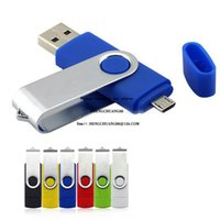 OTG Usb Flash Card for Android 2GB 1GB 512MB USB Flash Drive Color Rotary Pen Drive Memory Stick USB Pendrive Free Custom Logo Artwork
