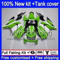 + Бак для KAWASAKI EX250 ZX250R 08 09 2010 2011 2012 201MY.116 EX 250 ZX 250R EX250 ZX250R EX250R 2008 2009 10 11 12 Зеленый белого обтекателя
