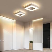 홀리 통로 복도에 대 한 현대적인 LED 천장 조명 침실 흑인이나 백인 광장 / 라운드 / 삼각형 천장 램프 고정 장치 행 램프