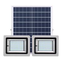 مصابيح مزدوجة الشمسية الكاشف 72LEDS 126LEDs 160LEDs 200LEDs في الهواء الطلق للطاقة الشمسية ضوء الفيضانات مصباح المناظر الطبيعية مع جهاز التحكم عن بعد لحديقة الحديقة