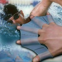 الصيف سيليكون اليد سباحة الزعانف زعانف السباحة النخيل فنجر مكفف المجفف قفاز