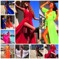 Yeni Avrupa Amerika Birleşik Devletleri Saf Renk Dantel Hırka Güneş Kremi Plaj Etek Bikini Uzun Kollu Bluz, Destek Karışık Toplu