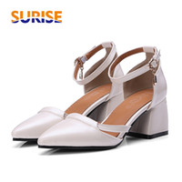 Summer Women D' Orsay High Block Heel Pointed Toe Pumps ...