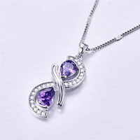 Popular 925 Silver Mosaic Crystal Water Drop Pendant Trendy Fashion Charm Jewelry Accessories Amulet Gifts for Women Her