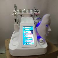 NEW! Большой насос! 6 или 7, 8in 1 гидра вода дермабразия био cavition ВЧ холодный молоток кислород лица глубокое очищение струи кислорода Пилинг машина