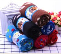 الحيوانات الأليفة غطاء عالية الجودة الدافئة باو طباعة الحيوانات الأليفة جرو الكلب القطة سرير بطانية غطاء وسادة منشفة جميل الكلب غطاء EEA969