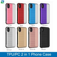 TPU pc 2em1 case para iphone 6 6s 6 plus 7/7 plus 8/8 plus x / xs xr case tampa do telefone celular