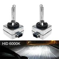 2шт HID фары 35 Вт D1S / D1R / D1C 6000K лампы D2S/D2R / D2C 12V туман автомобиля свет замена светодиодные универсальные лампы