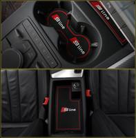 Alta Qualidade Portão Slot Pad Borracha Car-Cup Tapete / Pad Non-Slip Mat Acessórios para Audi A4 B8 B9 A4L 2011-2019 Estilo de carro