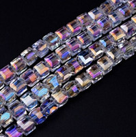 300pcs lot White AB Colorful Square Austria Crystal Beads ch...