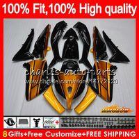 Инъекция Для YAMAHA TMAX XP MAX 500 TMAX500 2012 2013 2014 2015 83NO.85 оранжевого света TMAX500 MAX500 TMAX500 T MAX500 12 13 14 15 обтекателя
