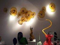 Горячие продажи коричневые цвета ручной выдувное стекло художественные пластины для внутреннего настенного декора изготовленный на заказ размер муранского стекла пластины
