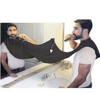 أسود اللحية الرجل المئزر حلاقة جديدة المريلة اللحية سريعة مريحة العناية النظيفة الرجال للماء تنظيف حماية لوازم الحمام