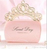 Nouvelle princesse Faveurs de mariage Fournitures de fête Papier cadeau chocolat cadeaux Boîtes Creative romantique Bonbonnière pliant de haute qualité 1 88ws