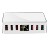 40W LED Display 6 Port USB Charger Adapter Hub Fast Charging...