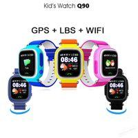 Akıllı İzle Q90 Çocuk Akıllı Izle Dokunmatik Ekran ile WiFi GPS SOS Sigorta Çocuk anti arayan Çocuklar için arayan konumu anti Kaydı ...