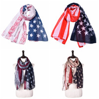 d1d6450d55a 180cm 90cm Striped American flag scarf unisex Cotton linen stars Patriotic  US Scarf Pashmina Stars Print Shawl Independence Day Wrap AAA2116