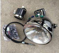 Jialing 70 motorcycle modified headlight assembly Jintong small monkey retro motorcycle modified headlight instrument housing Headlight