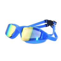 High definition antifogging swim goggles large frame silicon...
