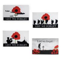 Freies Verschiffen auf Lager 3x5ft 90x150cm Polyester England Riesen Lest We Forget Soldat Union Jack Poppy Flagge Britische Armee WW1 Centenary Flagge