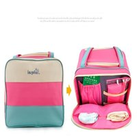 Portable Practical Diaper Bags Large Capacity Canvas Mommy B...