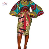 2019 été robe africaine pour les femmes d'été vintage Maxi Dashiki afrique vêtements femme en coton à manches plei-cou aucun WY1711