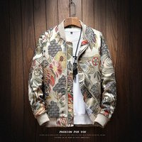 2018 Autumn New Japanese Embroidery Men Jacket Coat Man Hip ...