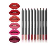 도매 새로운 뜨거운 패션 립스틱 연필 여성 전문적인 유치자 방수 립 라이너 연필 13 색 메이크업 도구