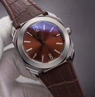 8 cores da moda homens do relógio de 42 milímetros de quartzo relógios 1.905 movimento de carrapato OCTO tem bateria relógios de couro de couro faixa de relógio 06