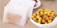 1000 unids / lote Bolsas de filtro de té de fibra de maíz Nuevo PLA Filtros de té biodegradados Pliegue Cerrar Bolsa de té Paquete Bolsa OPP