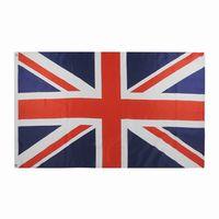 Bandeira do Reino Unido 3x5FT 150x90cm poliéster Impressão Indoor Outdoor Sports Nacional Britânico Inglaterra Bandeira de bronze Grommets frete grátis