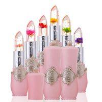 모이스처 라이저 오래 지속되는 립스틱 젤리 꽃 메이크업 온도가 변경 컬러 립 연기하는거야 핑크 Pintalabios 투명 뜨거운 판매
