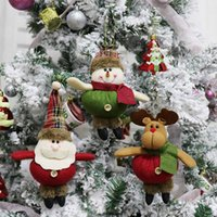 Xmas Tree Decorativa Pendurado Bonecas Ornamentos Pingente para o Natal Holiday Home Party Decor