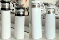 MDF Sublimación en blanco 350 ml / 500 ml Termsado de calor Thermos Cup DIY 304 Copa de acero inoxidable Transparente Thermos Thermos Thermos