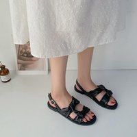 2020 summer new bow Roman sandals fairy style ins tide Korea...