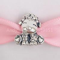 Authentische 925 Sterling Silber Perlen Patti Die Schafe Charm Charms passt europäischen Pandora-Stil Schmuckarmbänder Halskette 798870c00